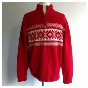 American Eagle Men's Size M Red Sweater